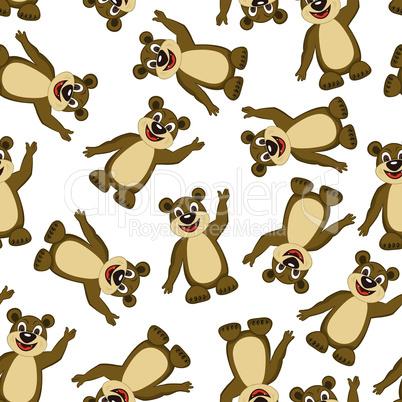 Seamless Funny Cartoon Bear