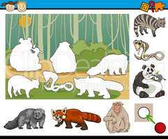 educational preschool task cartoon