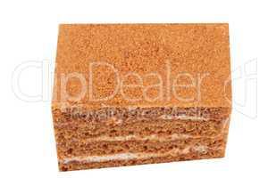 Sponge-cake Isolated