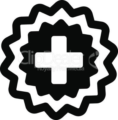 Black--medical cross stamp.eps