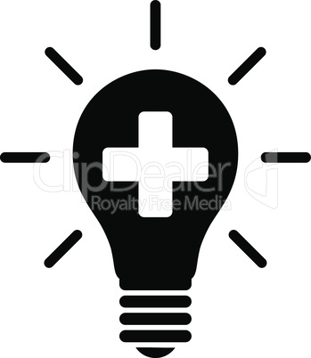 Black--medical electric lamp.eps