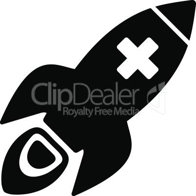 Black--medical rocket.eps