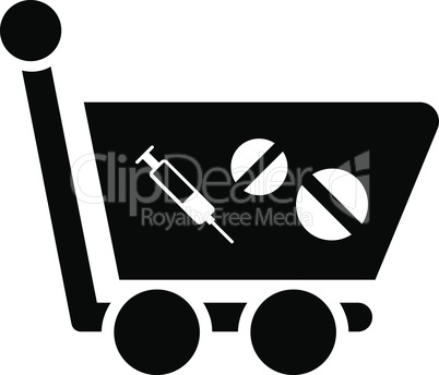 Black--medication shopping cart.eps