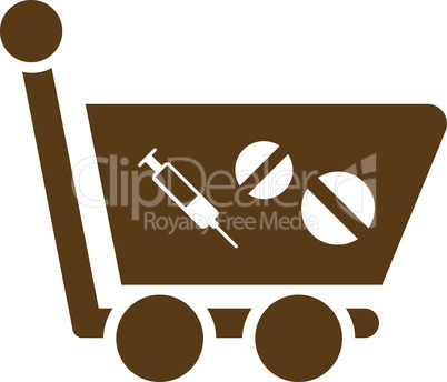 Brown--medication shopping cart.eps
