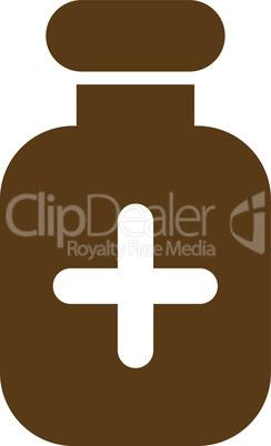 Brown--medication vial.eps