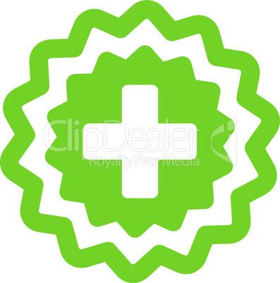 Eco_Green--medical cross stamp.eps