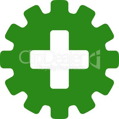Green--plus gear.eps