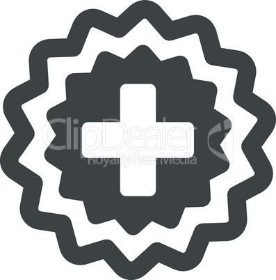 Gray--medical cross stamp.eps