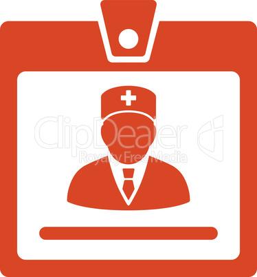 Orange--doctor badge.eps