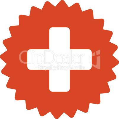 Orange--health care stamp.eps