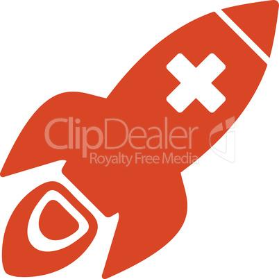 Orange--medical rocket.eps