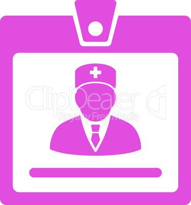 Pink--doctor badge.eps