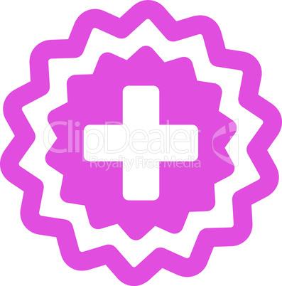 Pink--medical cross stamp.eps