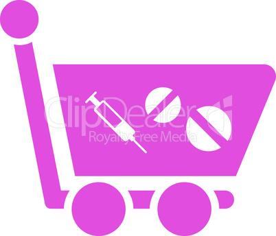 Pink--medication shopping cart.eps