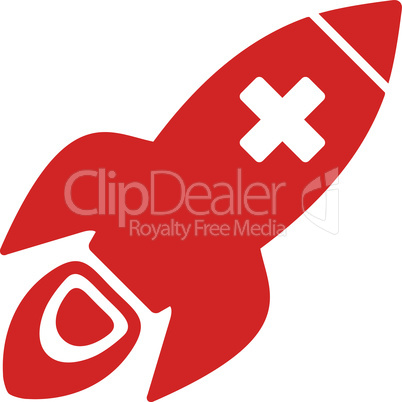 Red--medical rocket.eps