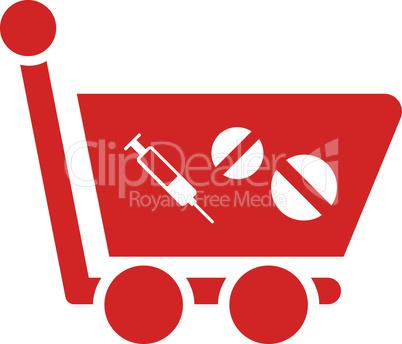 Red--medication shopping cart.eps
