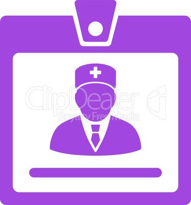 Violet--doctor badge.eps