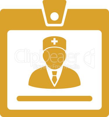 Yellow--doctor badge.eps