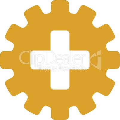 Yellow--plus gear.eps