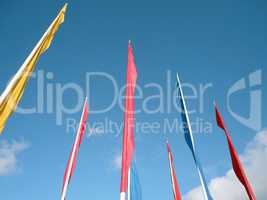 many color flags