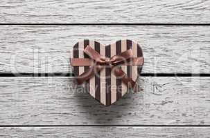 Heart shaped Valentines Day gift box