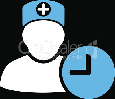 bg-Black Bicolor Blue-White--doctor schedule.eps