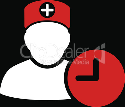 bg-Black Bicolor Red-White--doctor schedule.eps