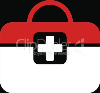 bg-Black Bicolor Red-White--medical kit.eps