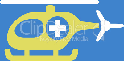 bg-Blue Bicolor Yellow-White--medical helicopter.eps