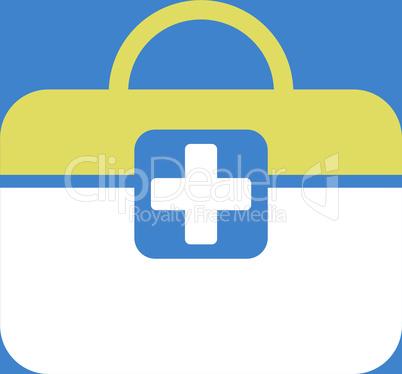 bg-Blue Bicolor Yellow-White--medical kit.eps