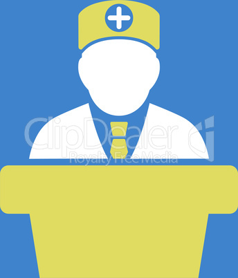 bg-Blue Bicolor Yellow-White--Medical official lecture.eps