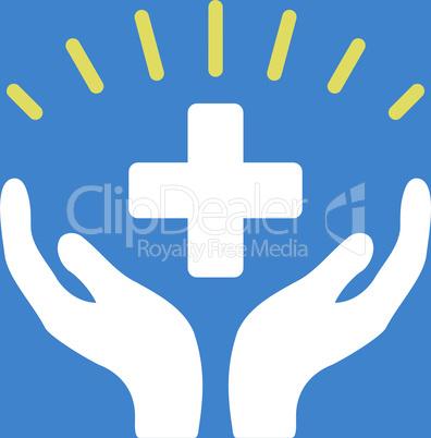 bg-Blue Bicolor Yellow-White--medical prosperity.eps