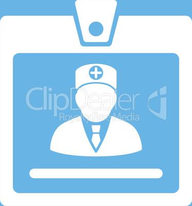 bg-Blue White--doctor badge.eps