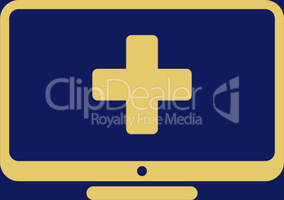 bg-Blue Yellow--medical monitor.eps