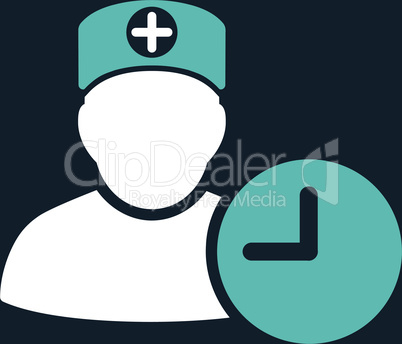 bg-Dark_Blue Bicolor Blue-White--doctor schedule.eps