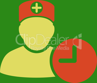 bg-Green Bicolor Orange-Yellow--doctor schedule.eps