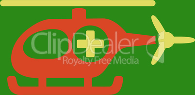bg-Green Bicolor Orange-Yellow--medical helicopter.eps
