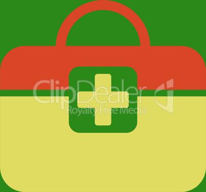 bg-Green Bicolor Orange-Yellow--medical kit.eps