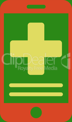 bg-Green Bicolor Orange-Yellow--online medical data.eps