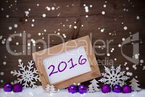 Purple Christmas Decoration, Snow, 2016, Snowflakes