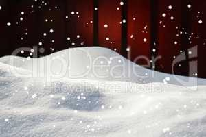 Christmas Card With Copy Space, Snow, Snowflakes