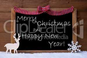 Card, Snowflake, Loop, Merry Christmas, Happy New Year, Snow