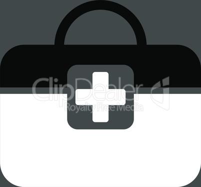 bg-Gray Bicolor Black-White--medical kit.eps