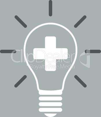 bg-Silver Bicolor Dark_Gray-White--creative medicine bulb.eps
