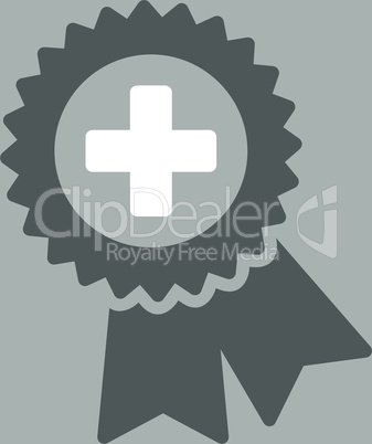 bg-Silver Bicolor Dark_Gray-White--medical quality seal.eps