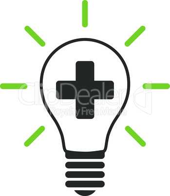 Bicolor Eco_Green-Gray--creative medicine bulb.eps