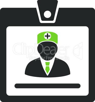 Bicolor Eco_Green-Gray--doctor badge.eps
