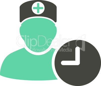 Bicolor Grey-Cyan--doctor schedule.eps