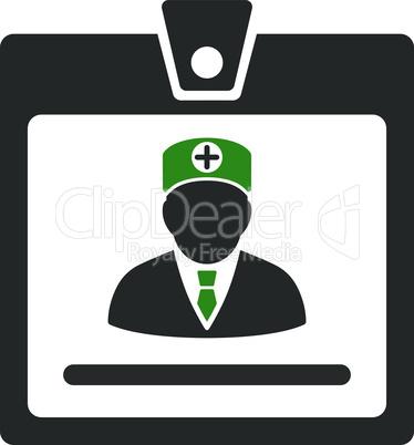 Bicolor Green-Gray--doctor badge.eps