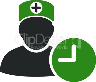 Bicolor Green-Gray--doctor schedule.eps